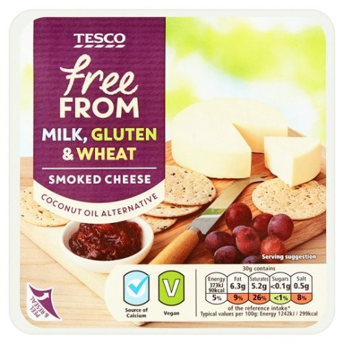 Tesco Free From Smoked Cheese Alternative 200G