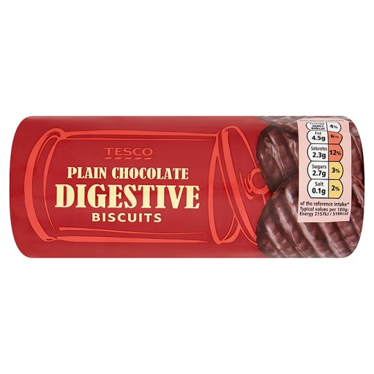 Tesco Plain Chocolate Digestive Biscuits 300g My Vegan