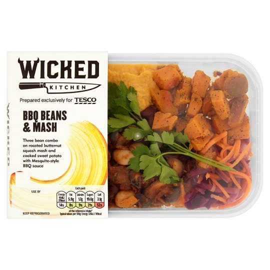 wicked kitchen bbq beans and mash 345g - Wicked Kitchen