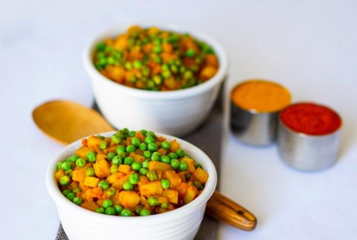 Aloo Matar Indian Potatoe Pea Curry Vegan Gluten Free #myvegetarianfamily