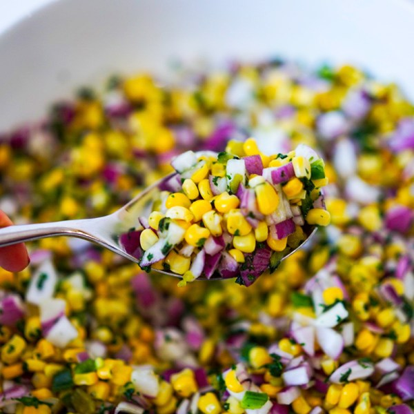 Corn Salsa with Roasted Poblano Pepper