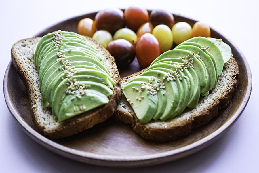 Avocado Toast with Tomatoes Easy Vegan GF Breakfast Idea