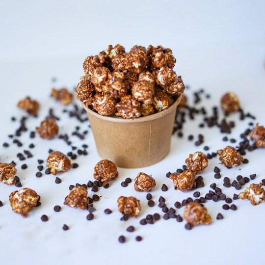 Chocolate Peanut Butter Popcorn #myvegetarianfamily