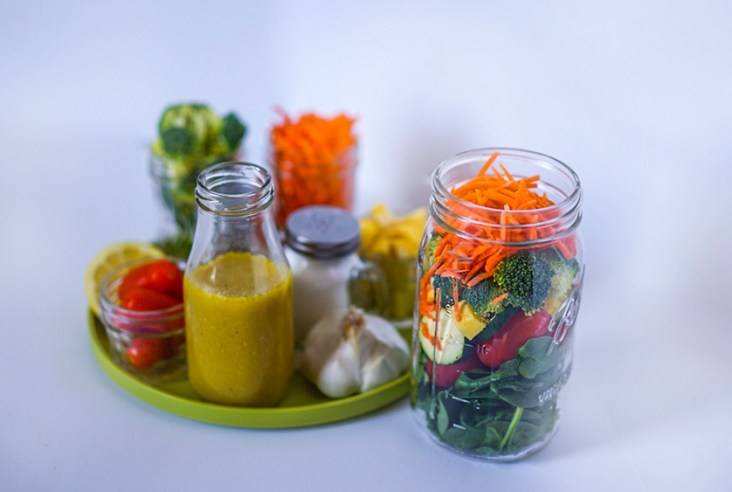 Homemade Salad Dressing Perfect For Vegetarian Lunchboxes