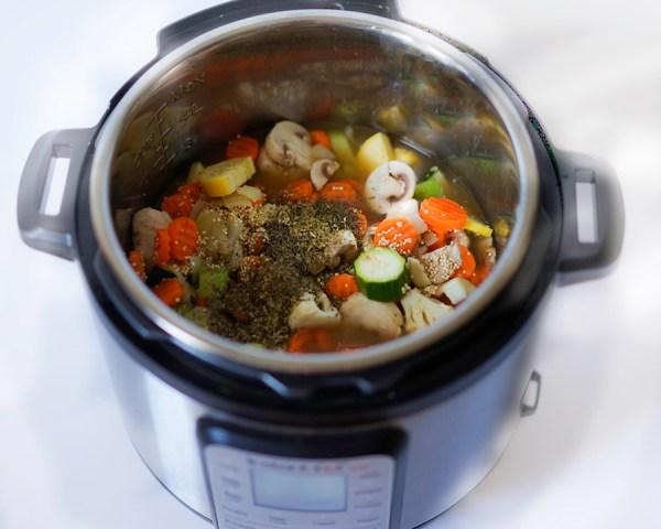 Instant Pot Veggie Quinoa Soup Easy Vegan GF