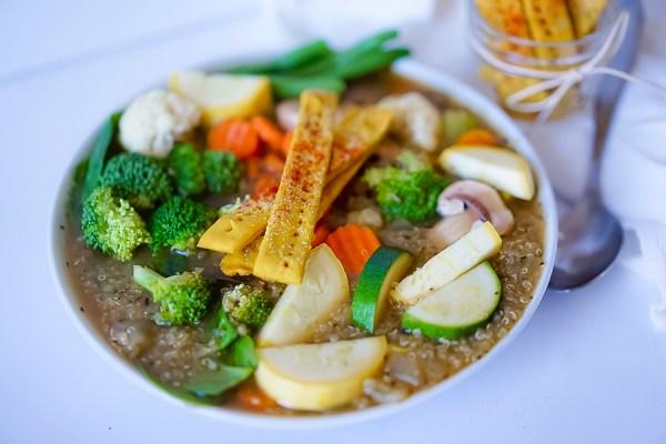 Quinoa Vegetable Soup Vegan GF