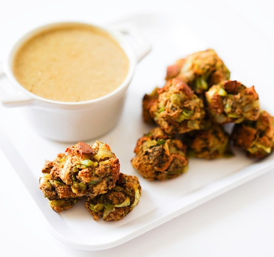 Vegan Thanksgiving Stuffing Balls #myvegetarianfamily