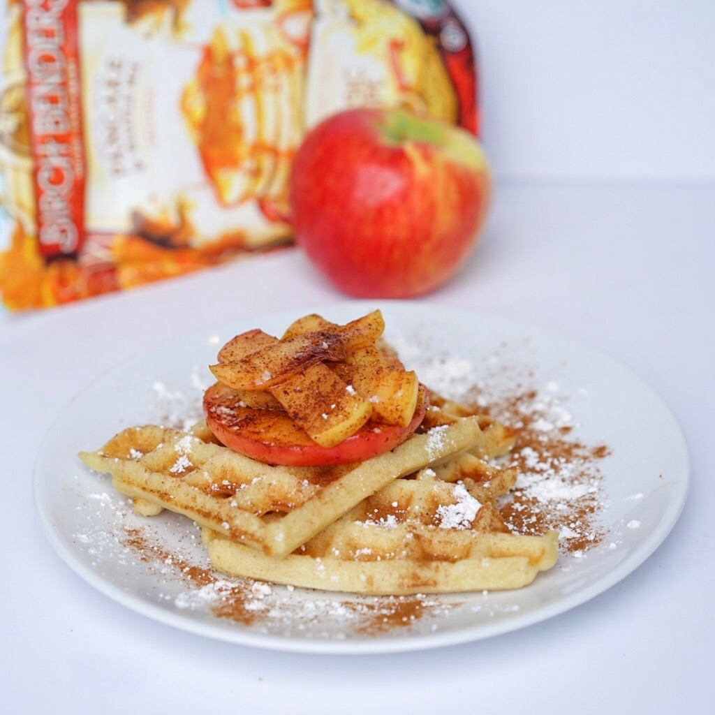 vegan pan fried apples #myvegetarianfamily
