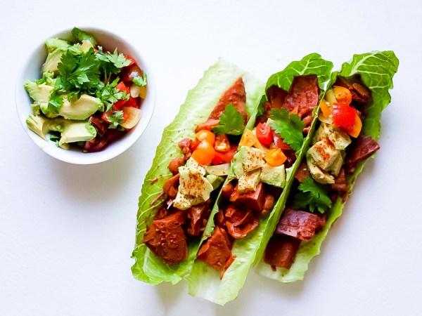 Jackfruit Lettuce Burrito #myvegetarianfamily