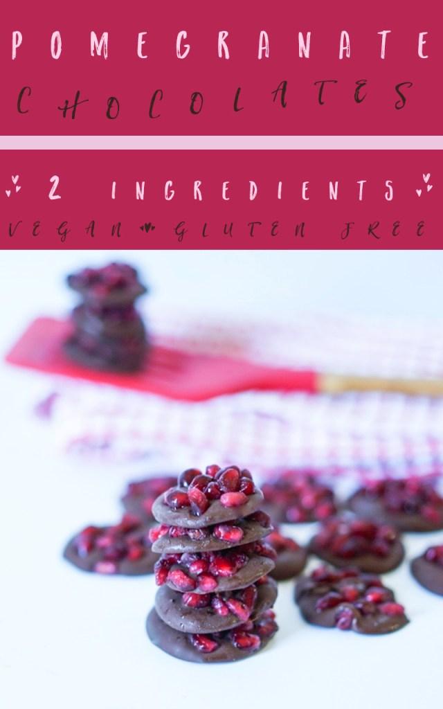 Chocolate Pomegranate Bites #Vegan #glutenfree #myvegetarianfamily #homemade