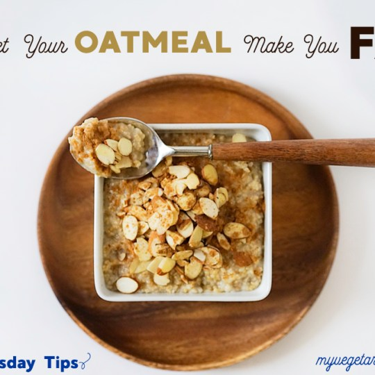 Tara's Tuesday Tips Oatmeal #myvegetarianfamily