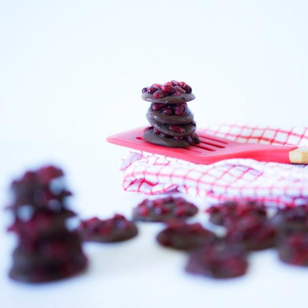 Pomegranate Chocolate Bites #vegan #gluten free #myvegetarianfamily