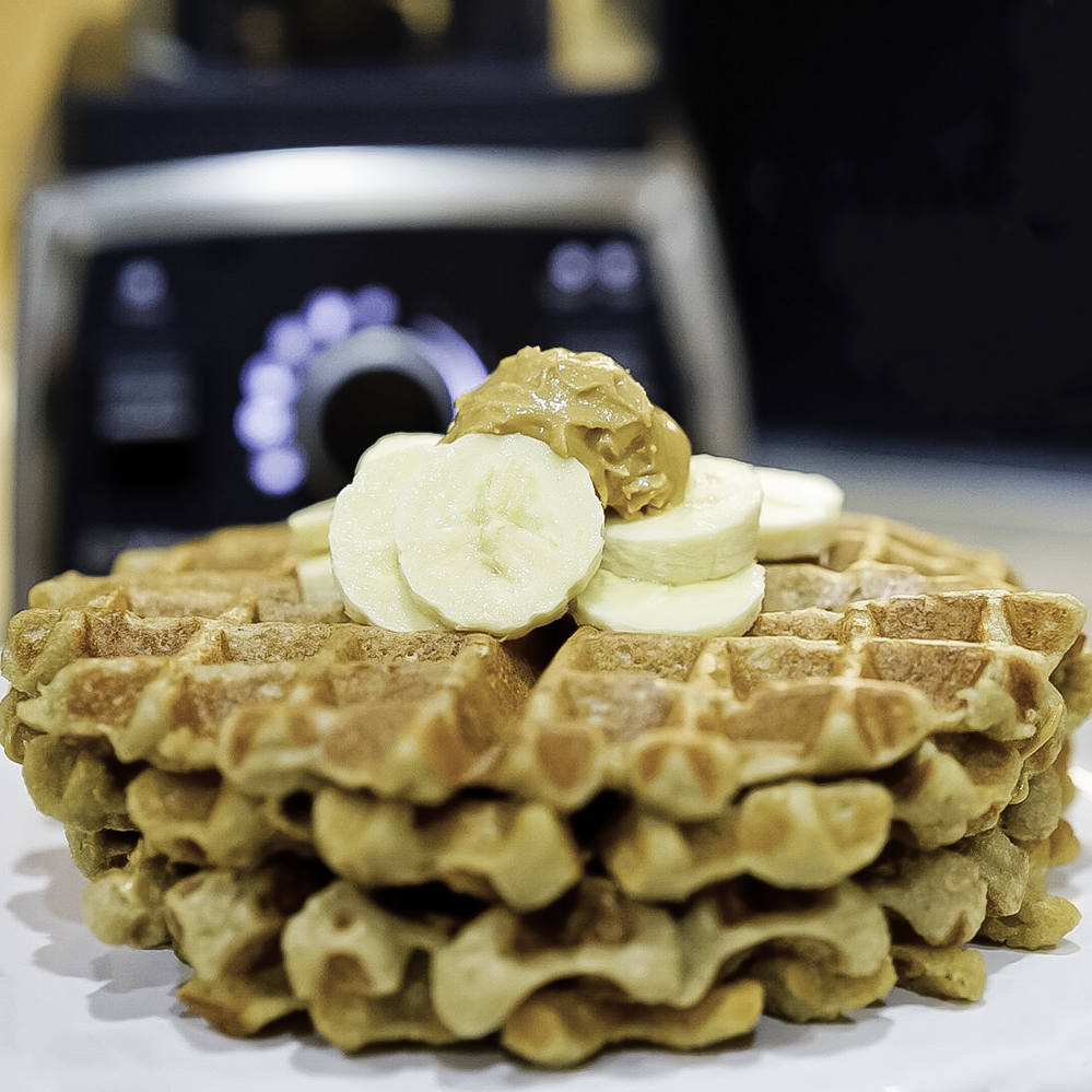 Banana Blender Waffles #myvegetarianfamily