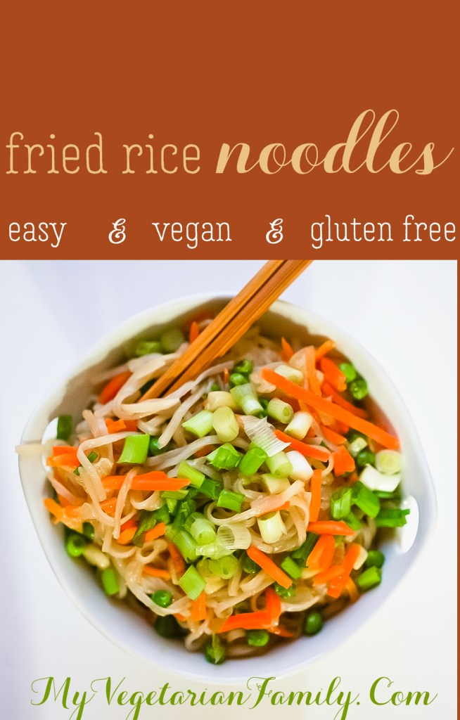 Fried Rice Noodles #vegan #glutenfree #myvegetarianfamily