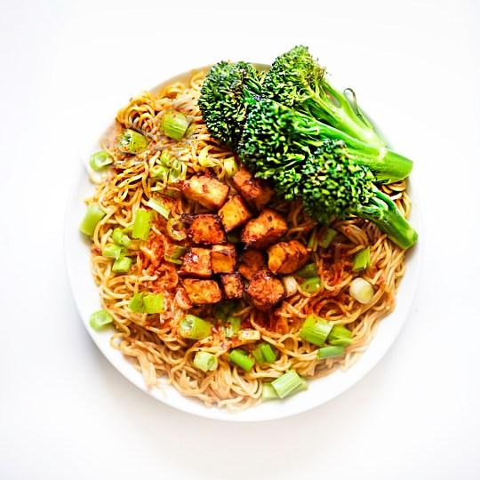 vegan pad thai noodles #myvegetarianfamily