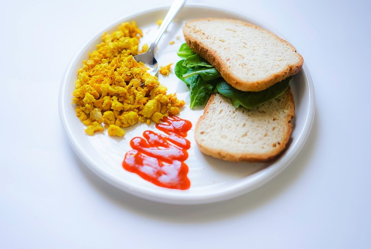 Easy Tofu Scramble #myvegetarianfamily