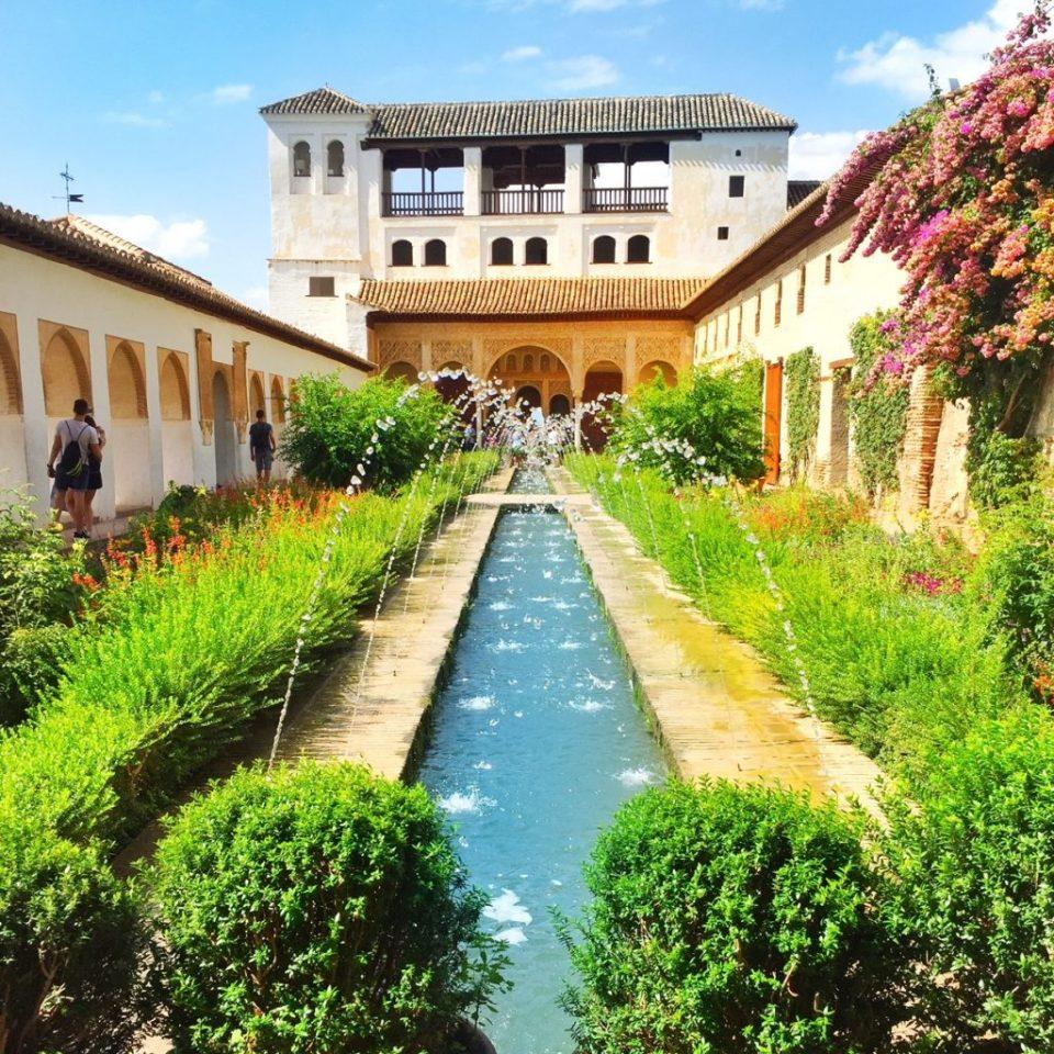 Alhambra gardens Granada