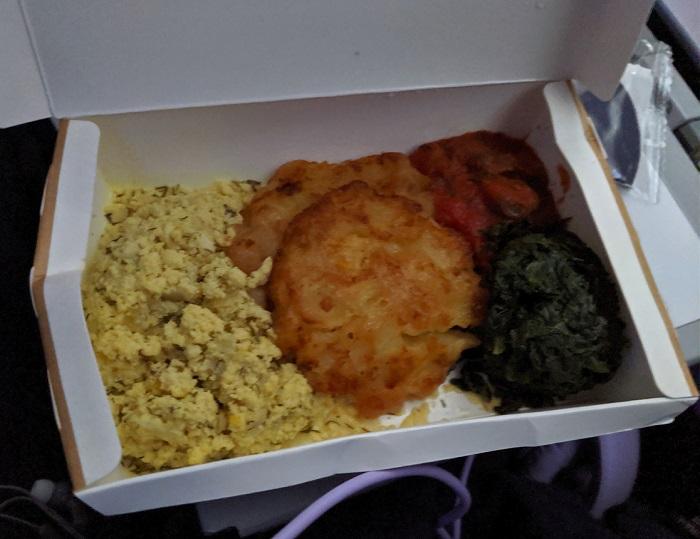 Finnair breakfast