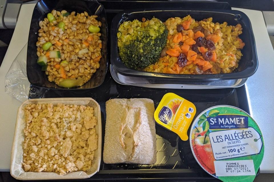 vegan air france meal