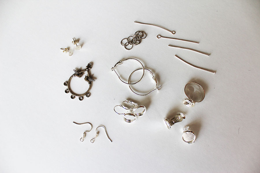 Polymer clay jewelry making: tools, components and