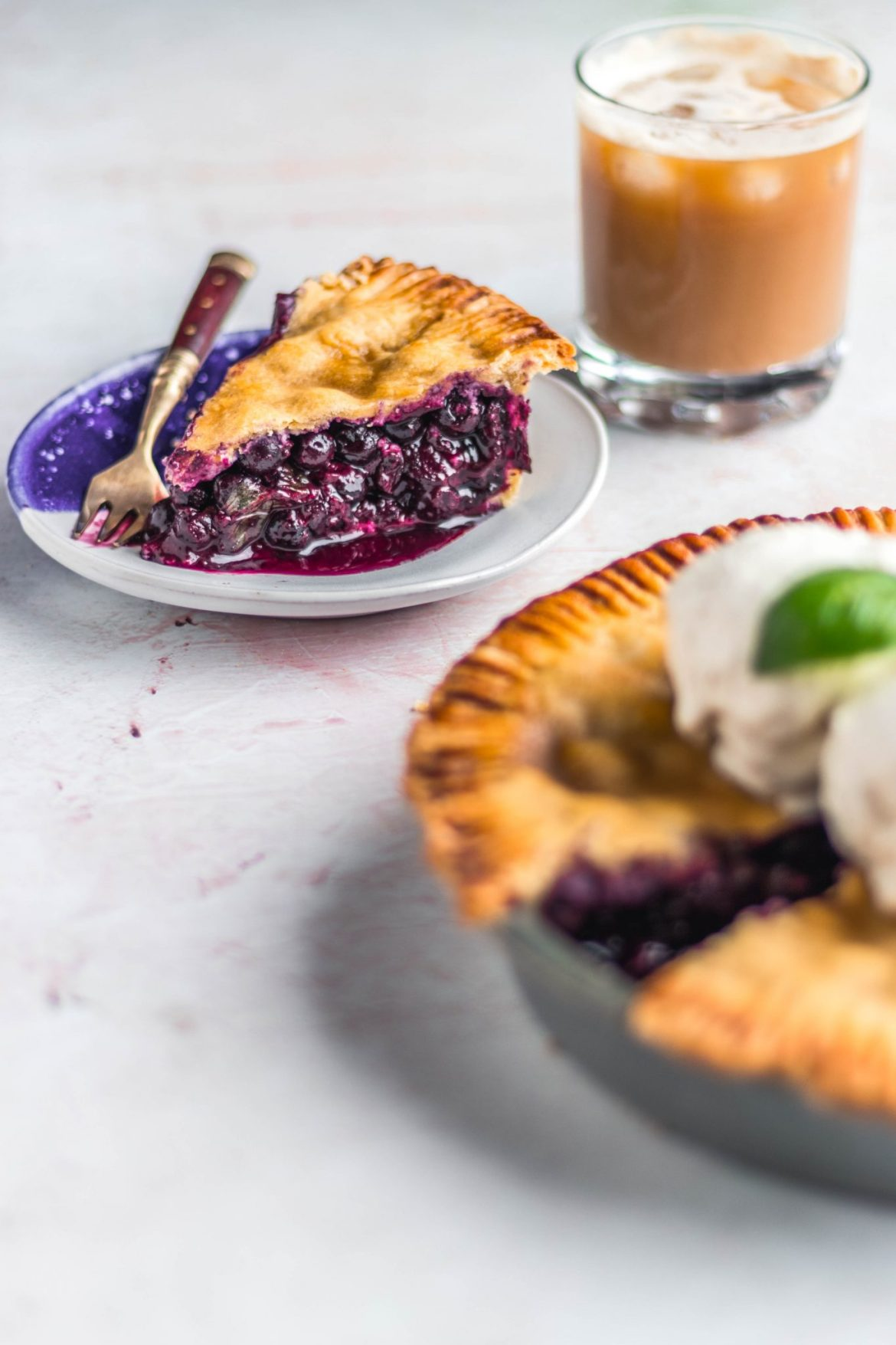 Vegan Blueberry Basil Pie