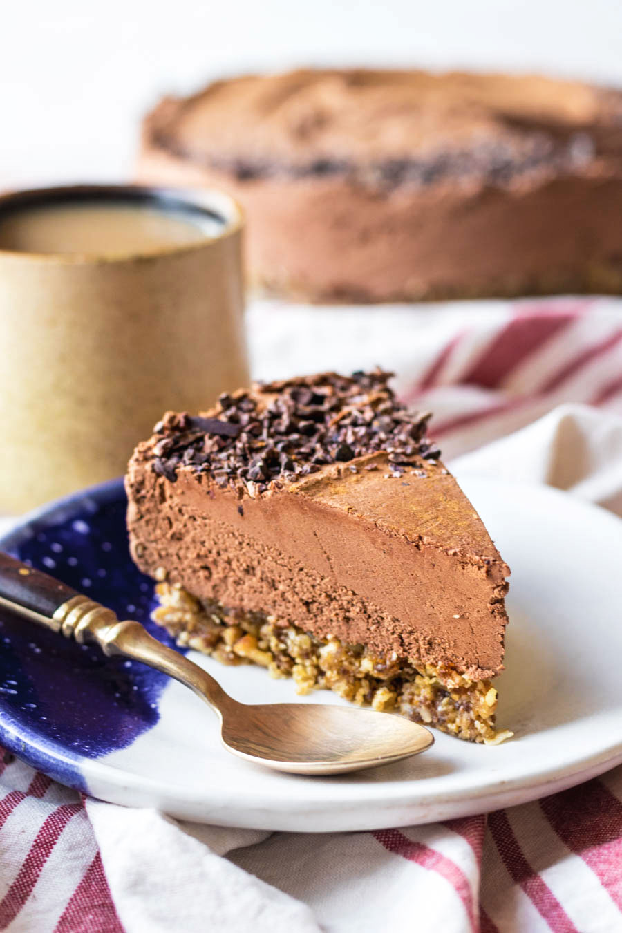 Vegan Mayan Spiced Whipped Chocolate Pie