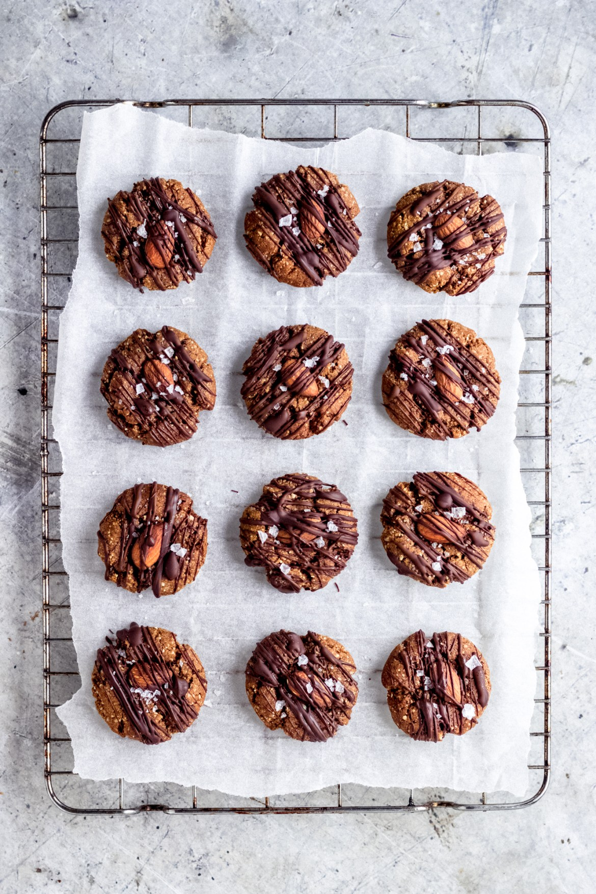 Vegan Chewy Ginger Almond Cookies
