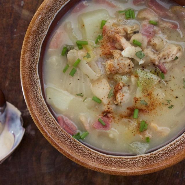 Scrumptious clam chowder!