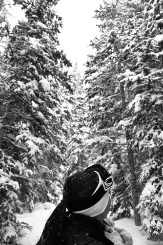 Anna entering a winter wonderland!