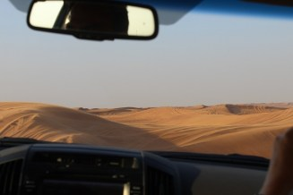 Entering the dunes