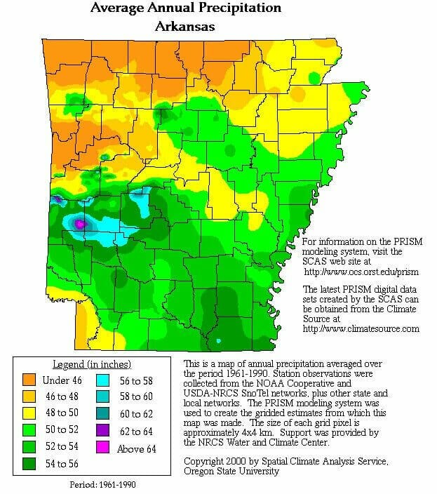 Arkansas rainfall