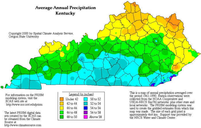 Kentucky rainfall