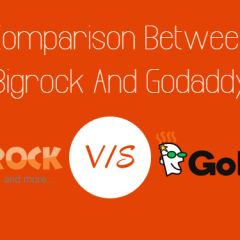 Comparison Between BigRock And GoDaddy 2017 [Infographic]