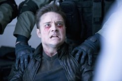 Steve Newlin, looking captured and unhappy. Check out his captor's gloves. My first thought was that they would protect against silver, but that only works if the captors are vamps themselves