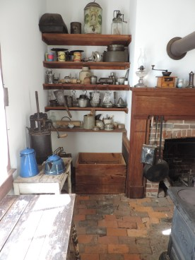 This kitchen has many utensils that would have been in use at the time the Watkins lived here.