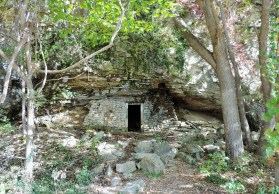 This cave, near Rocheport, served as storage for explosives that were used by the railroad.
