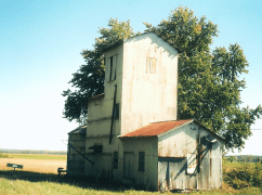 """This old building, not too far from Augusta, was used by the railroad as a """"filling station"""" for water and coal."""
