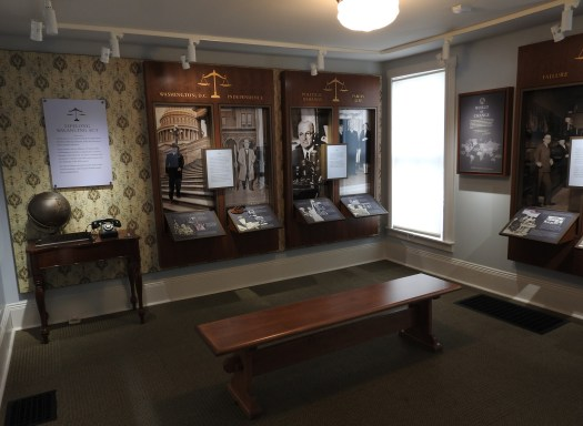 Inside the Noland House, you will find displays relating to the lives of Harry and Bess Truman, and their Midwestern roots.