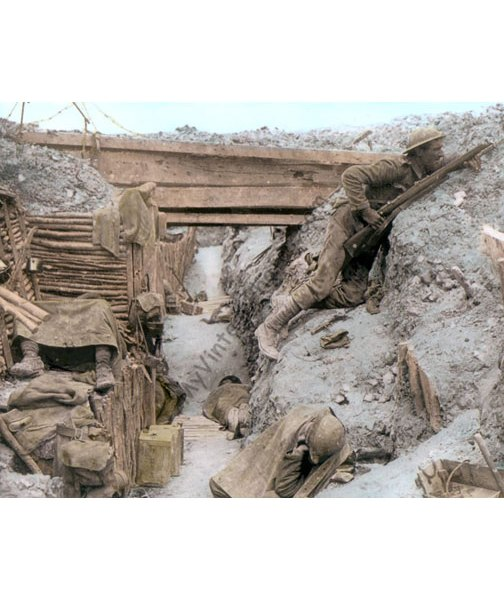 British Trench WWII Ovillers-la-Boisselle, 1916