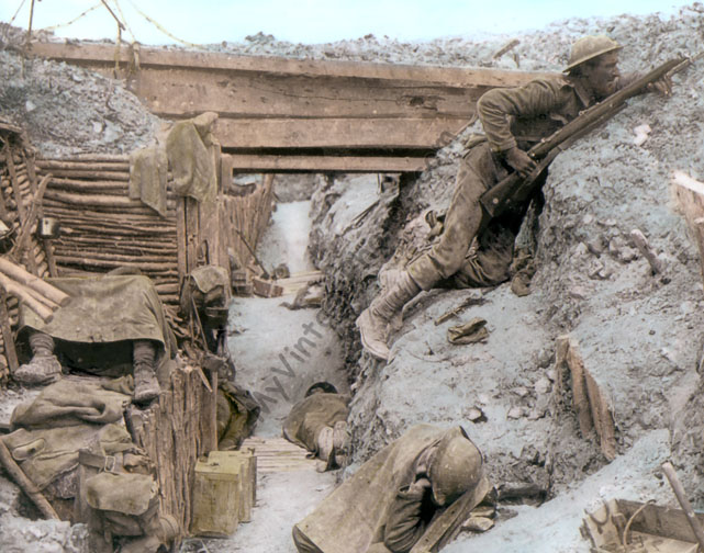 British Trench at Ovillers-la-Boisselle