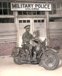 PFC Victor Tampone WWII, 1942 Motorcycle