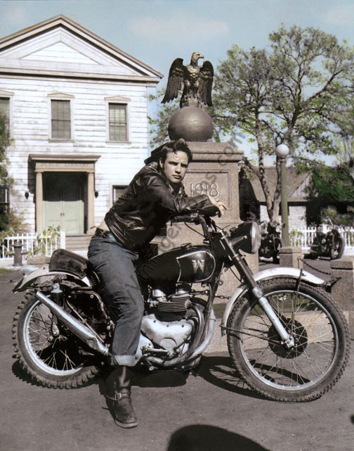 Marlon Brando The Wild One Motorcycle