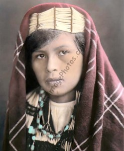 Quinault Native American Indian girl