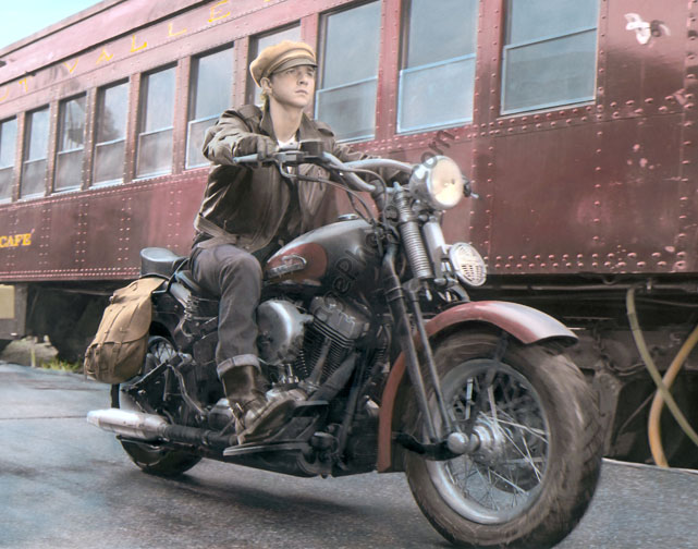 Shia Labeouf Indiana Jones Motorcycle