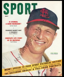 Stan Musial on the July 1954 cover of SPORT magazine