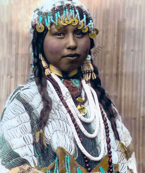 Wishham Native American Indian Bride, 1910