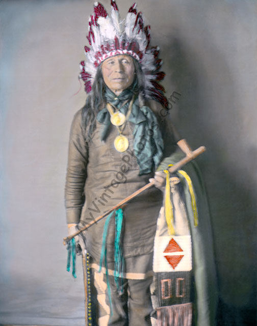 Iron Owl, Native American Yankton Dakota Sioux, 1905