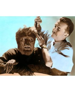 Lon Chaney Jr. & Jack Pierce, The Wolf Man 1941