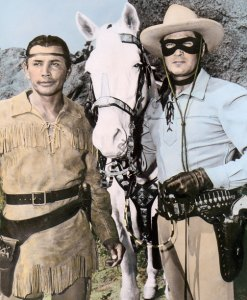 "Jay Silverheels ""Tonto"" & Clayton Moore ""The Lone Ranger"", 1951"
