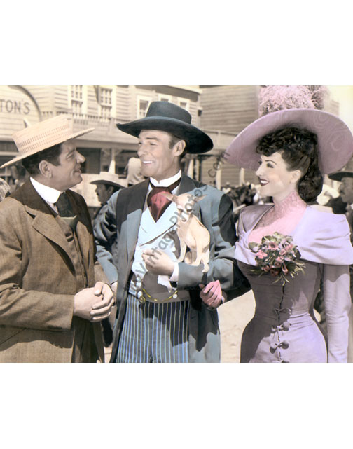 Bob Burns, Randolph Scott & Gypsy Rose Lee, Belle of the Yukon 1944